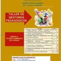 TALLER DE GESTORES PEDAGÓGICOS