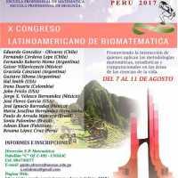 X CONGRESO LATINOAMERICANO DE BIOMATEMATÍCA (X SOLABIMA)